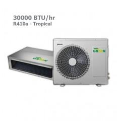 داکت اسپلیت گرین R410a حاره ای GDS-30P1T1/A