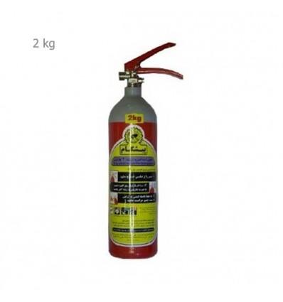 کپسول آتشنشانی 2 کیلویی گاز CO2  پرتابل پیشگام
