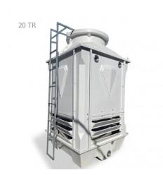 برج خنک کننده فایبرگلاس مکعبی دماتجهیز 20 تن تبرید