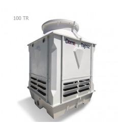 برج خنک کننده فایبرگلاس مکعبی دماتجهیز 100 تن تبرید