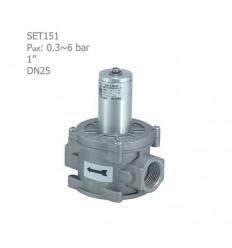 """شیراطمینان گازی ستاک دنده ای """"1 مدل SET151"""