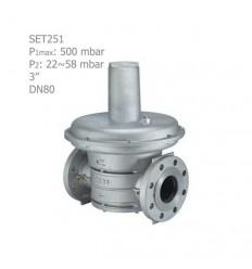 """رگلاتور گازی ستاک فلنجی """"3 مدل SET251"""
