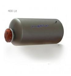 منبع کویل دار افقي آب گرم 400 لیتری دماتجهیز
