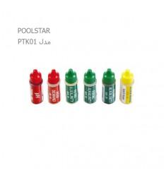 محلول یدکی تست کیت 5 آیتم POOLSTAR مدل PTK01