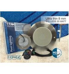 چراغ LED روکار با رینگ استیل316 HQPOOL مدل Ultra Flat-HQ1011
