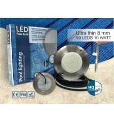 چراغ LED کوچک روکار با قاب استیل316 HQPOOL مدل Ultra Flat-HQ1010