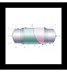 منبع دو جداره آب گرم افقي دماتجهیز ظرفیت 300