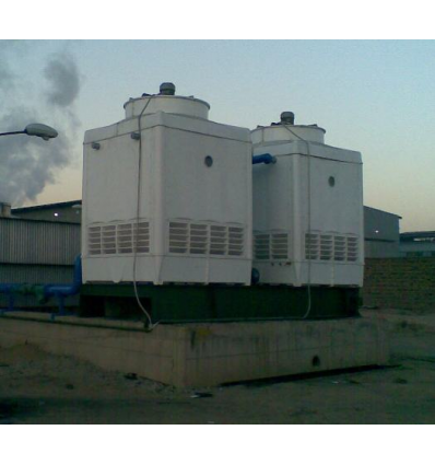 برج خنک کننده سارآفرین فايبر گلاس طرح مکعبی