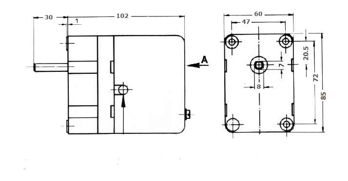 ابعاد موتور دمپر هانیول - کانکترون LKS 120 05
