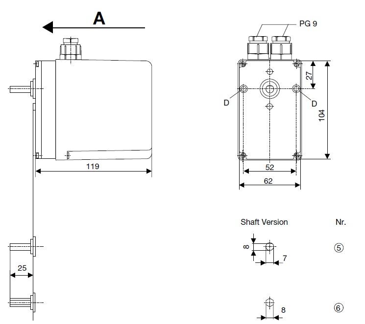 ابعاد  موتور دمپر هانیول - کانکترون LKS 160 36