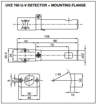فتوسل ساترونیک قرمز مدل UVZ 780