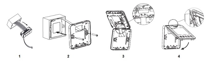 روش نصب ترموستات فن کویلی هانیول مدل tf428