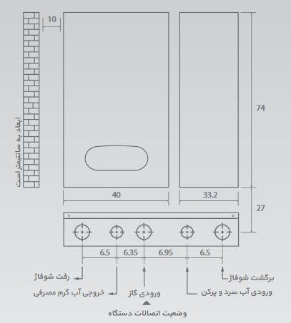 پکیج دیواری بوتان مدل parma rsi