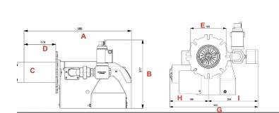 مشعل گازی شوفاژکار مدل 240