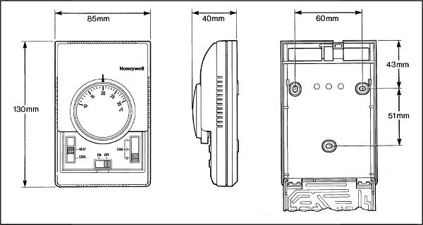 ترموستات دوفصل سه دور هانیول مدل T6373
