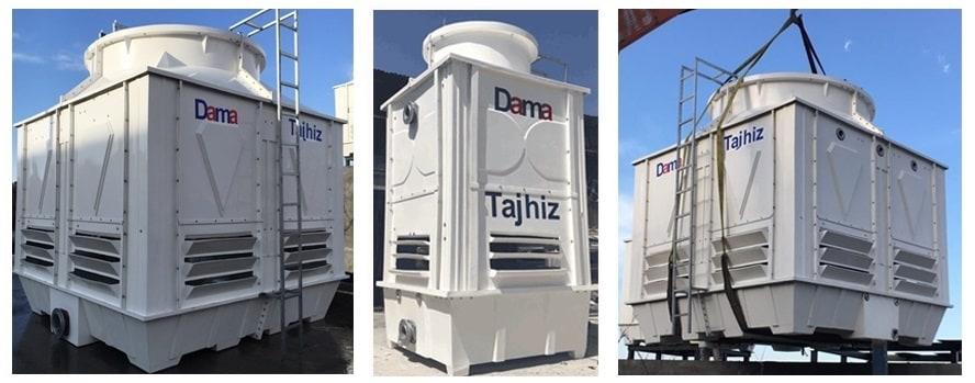 DAMATAJHIZ fiberglass cubic cooling tower