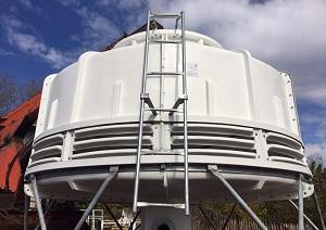 برج خنک کننده فایبرگلاس مدور دماتجهیز
