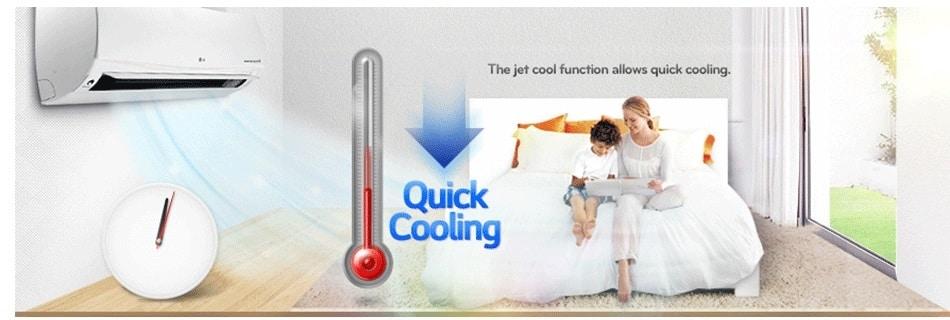 خنک کنندگی سریع کولر گازی ال جی نکست پلاس