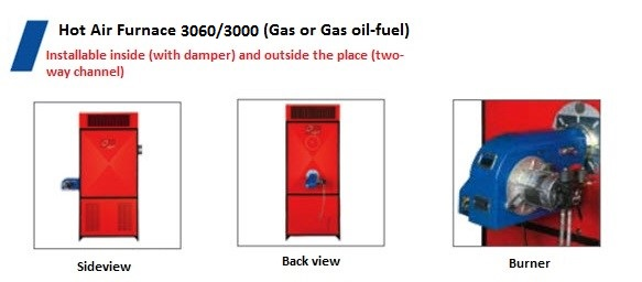 Energy Gasoil-fuel Hot Air Furnace
