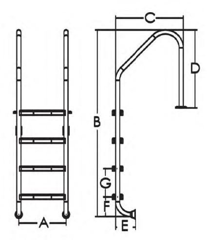 پله استخری ایمکس مدل Standard NSL515-S