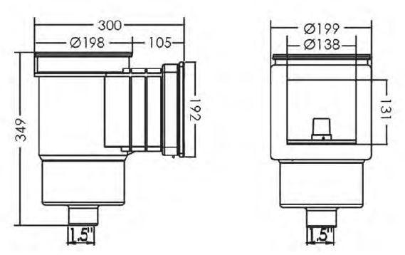 اسکیمر استخر ایمکس استاندارد کوچک