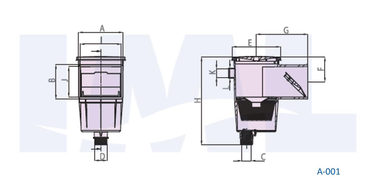 نقشه اسکیمر استخر IML مدل A-001