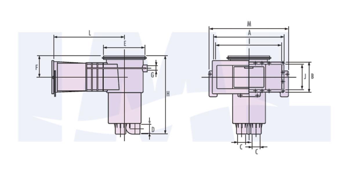 نقشه اسکیمر استخر IML مدل A-010