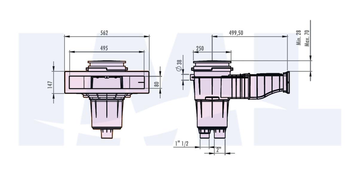 اسکیمر استخر مدل E-12NORM