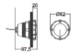چراغ استخر توکار ایمکس مدل P50 هالوژن