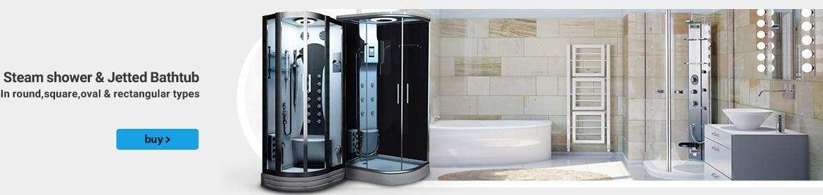 Steam shower & Jetted Bathtub