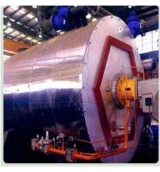 دیگ سوپراکتیو آب داغ فولادی سه پاس درای بک با فشار کار 10 بار